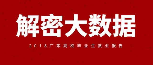 2018年广东高校毕业生就业质量年度报告
