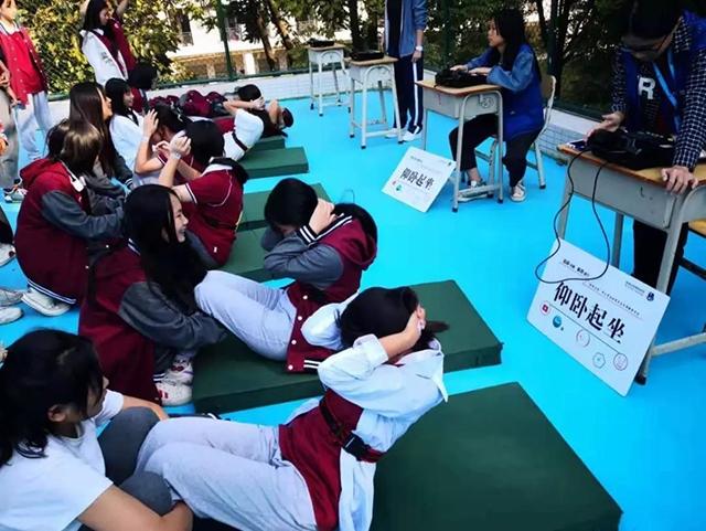 广州纺校学生体质健康测试顺利完成